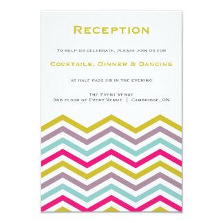 Colorful Retro Chevron Pattern Reception Card 9 Cm X 13 Cm Invitation Card