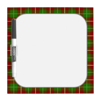 Colorful Retro Christmas Holiday Tartan Plaid Dry-Erase Whiteboard