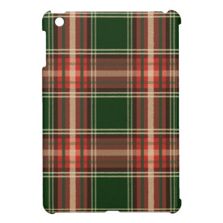 Colorful Retro Christmas Holiday Tartan Plaid iPad Mini Covers
