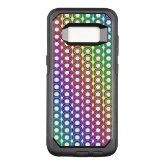 Colorful retro circles OtterBox commuter samsung galaxy s8 case