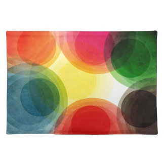 Colorful Retro Circles Placemats