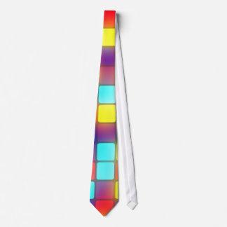 Colorful retro dancefloor tie