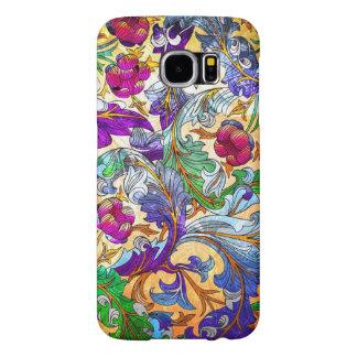 Colorful Retro Floral Collage 4-Purple Tint