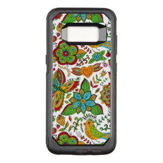 Colorful Retro Floral Collage Pattern G7 OtterBox Commuter Samsung Galaxy S8 Case