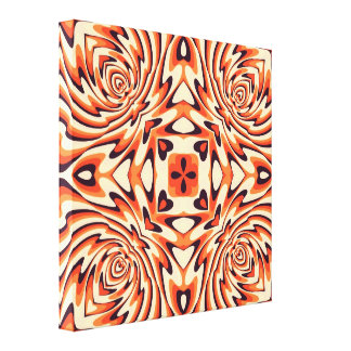 Colorful Retro Floral Seamless Canvas Prints