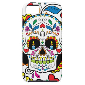 Colorful Retro Floral Sugar Skull Burning Candles iPhone 5 Cover