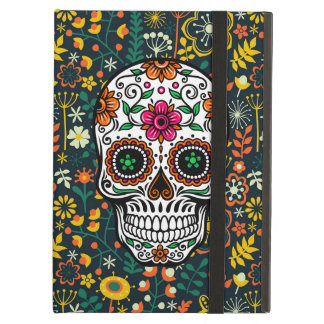 Colorful Retro Floral Sugar Skull Case For iPad Air