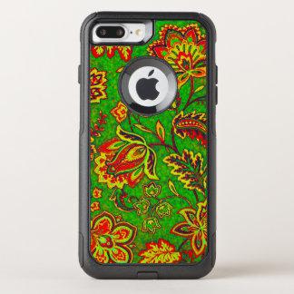 Colorful Retro Floral Vintage Paisley OtterBox Commuter iPhone 8 Plus/7 Plus Case