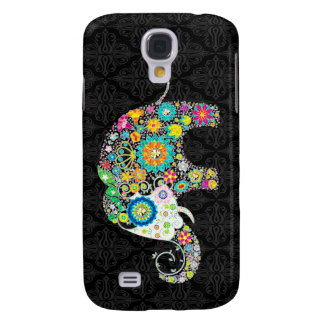 Colorful Retro Flower Elephant Design Galaxy S4 Cover