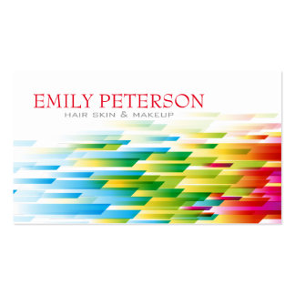 Colorful Retro Geometric Shapes Pattern Pack Of Standard Business Cards