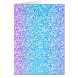 Colorful Retro Glitter And Sparkles Card