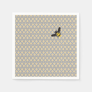 Colorful Retro Honeycomb Grid Pattern Disposable Napkin