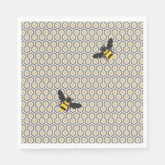 Colorful Retro Honeycomb Grid Pattern Disposable Napkins