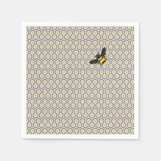 Colorful Retro Honeycomb Grid Pattern Disposable Serviettes