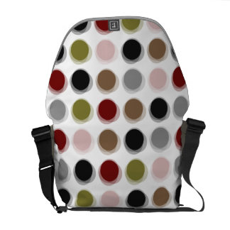 Colorful Retro Mod Pattern Fuzzy Dots Art Vector Commuter Bag