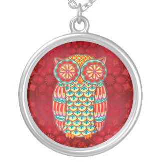 Colorful Retro Owl Necklace