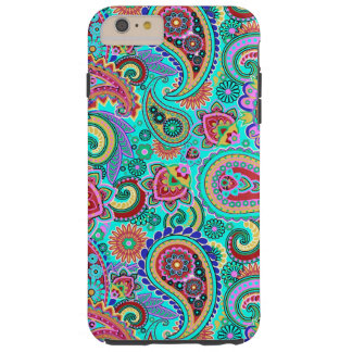 Colorful Retro Paisley 2a Tough iPhone 6 Plus Case