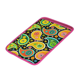 Colorful Retro Paisley & Diamonds Pattern MacBook Sleeve