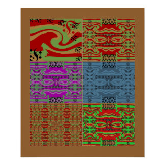 Colorful Retro Pattern Poster