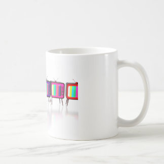 Colorful retro tv's coffee mug