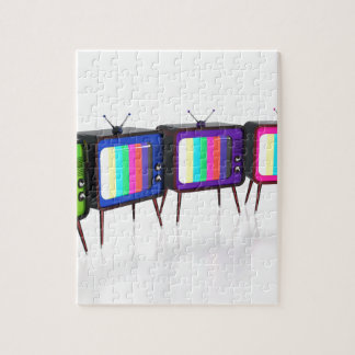 Colorful retro tv's jigsaw puzzle