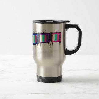 Colorful retro tv's travel mug