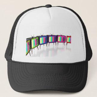 Colorful retro tv's trucker hat