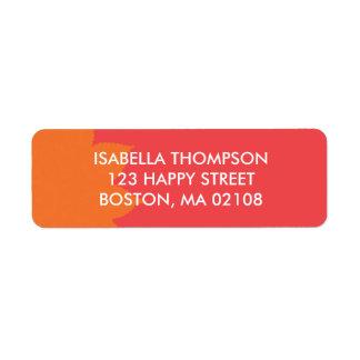 Colorful Return Address Return Address Label