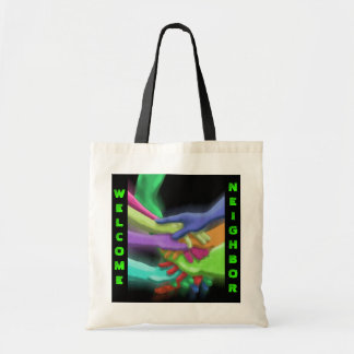 COLORFUL REUSABLE HANDS BAG TOTES BAGS RETRO NEON