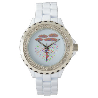 colorful Rhinestone Enamel woman watch