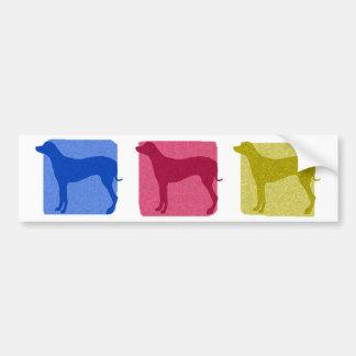 Colorful Rhodesian Ridgeback Silhouettes Bumper Sticker