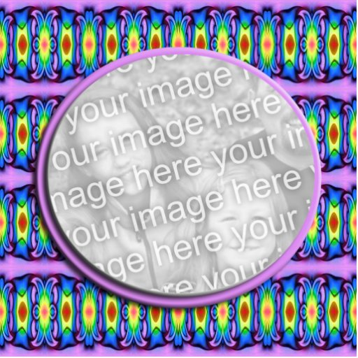 colorful ribbons photoframe cut out