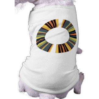 Colorful ring sleeveless dog shirt