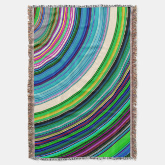 Colorful Rings Throw Blanket