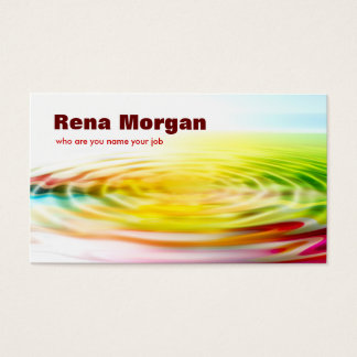 colorful ripple business card