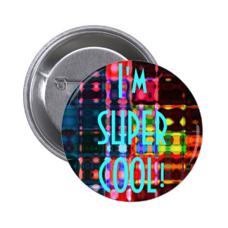 Colorful Ripples Pinback Button