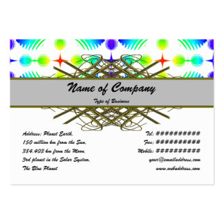 Colorful Ripples Big Transparent Business Card Templates