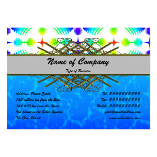 Colorful Ripples Big Transparent Business Card Template