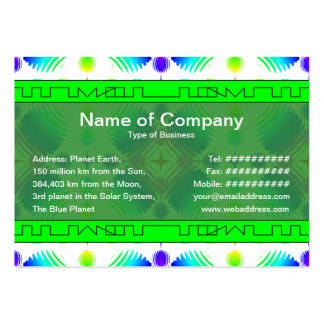 Colorful Ripples Big Transparent Business Cards