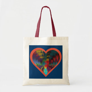 Colorful Ripples Budget Tote Bag