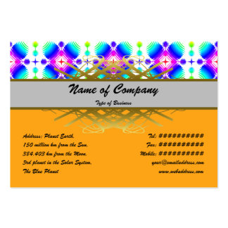 Colorful Ripples Small Transparent Business Card Template