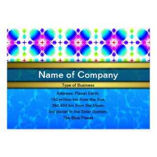 Colorful Ripples Small Transparent Business Card Templates