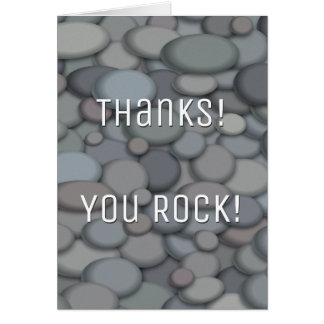 Colorful River Rock Thank You Card