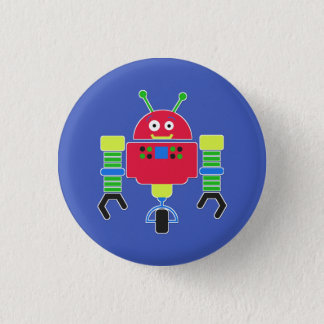 Colorful Robot Button Pin