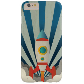 Colorful Rocket w/ Blue Rays and White Smoke Barely There iPhone 6 Plus Case