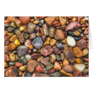 Colorful Rocks and Pebbles Card