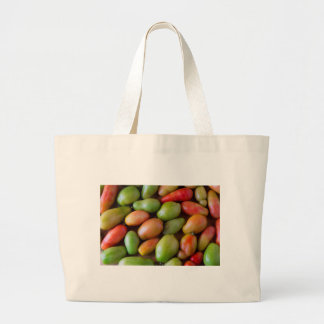 Colorful_Roma_Tomatoes Large Tote Bag
