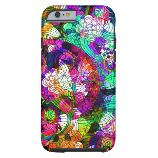 Colorful Romantic Vintage Floral Pattern 2 Tough iPhone 6 Case