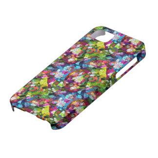 Colorful Romantic Vintage Floral Pattern 2 iPhone 5 Cases