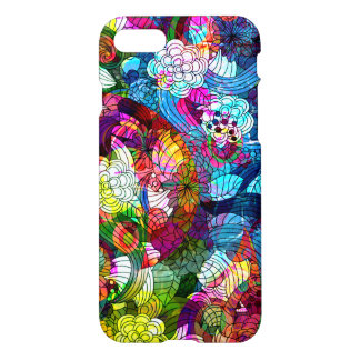 Colorful Romantic Vintage Floral Swirls iPhone 7 Case